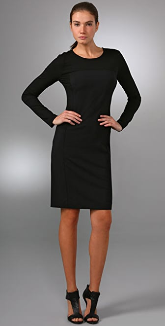 DKNY Long Sleeve T-Shirt Dress