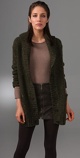 DKNY pure DKNY Shawl Collar Cardigan