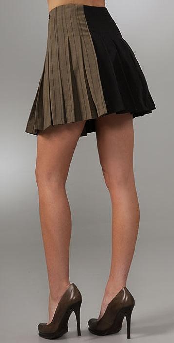 DKNY Pleated Miniskirt