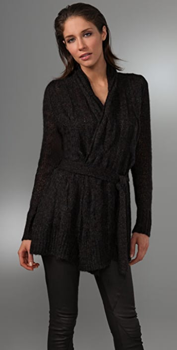 DKNY Cozy Cable Cardigan