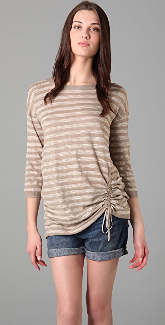 DKNY pure DKNY Striped Pullover Sweater