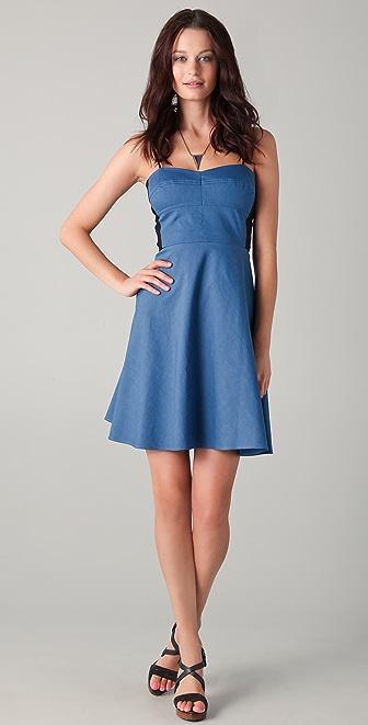 DKNY Contrast Sweetheart Dress