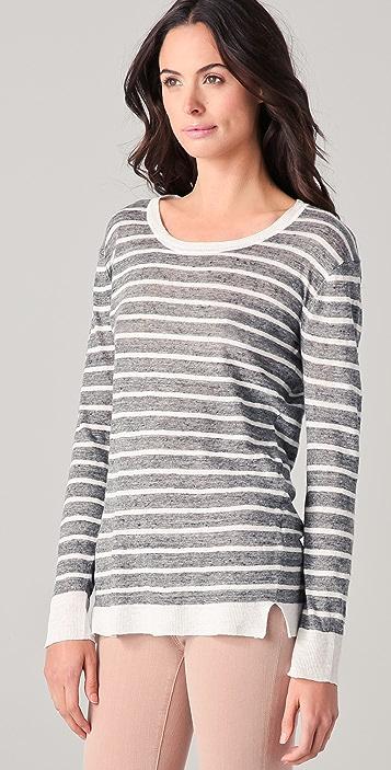 DKNY Pure DKNY Striped Linen Sweater