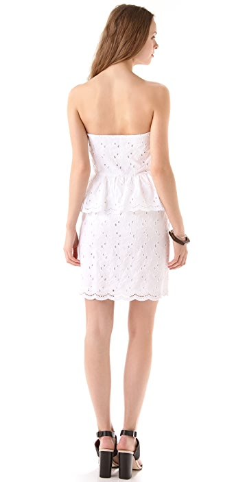 DKNY Strapless Peplum Dress