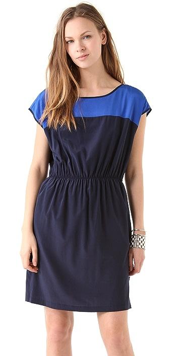 DKNY Drop Shoulder Colorblock Dress