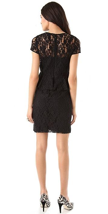 DKNY Lace Peplum Dress
