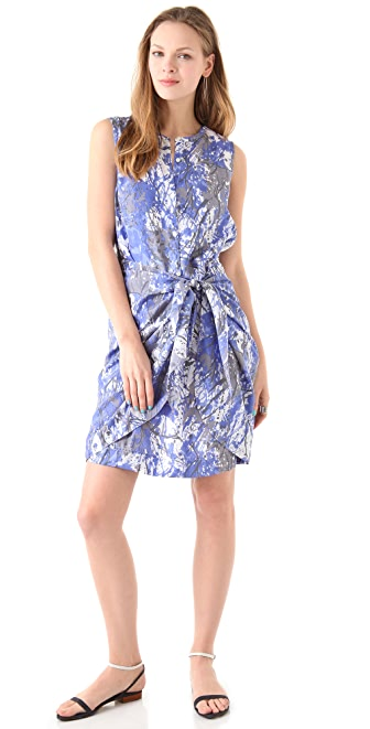 DKNY Pure DKNY Sarong Shirtdress