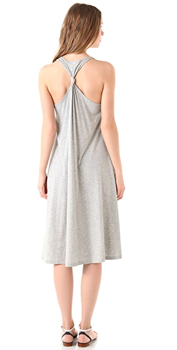 DKNY Pure DKNY Knotted Racer Back Dress