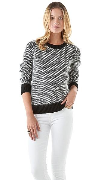 DKNY Novelty Stitch Crew Neck Sweater
