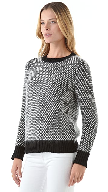 DKNY Novelty Stitch Crew Neck Sweater