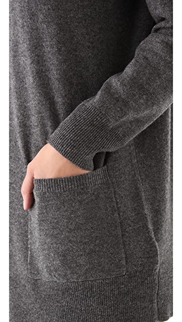 DKNY Hooded Cashmere Pullover