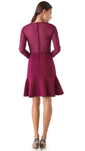 DKNY Peplum Hem Dress