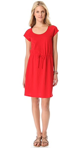 DKNY pure DKNY Scoop Neck Dress with Drawstring