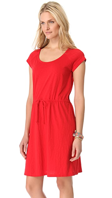 DKNY pure DKNY Scoop Neck Dress with Drawstring