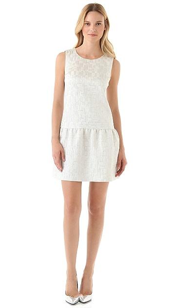 DKNY Drop Waist Sleeveless Dress