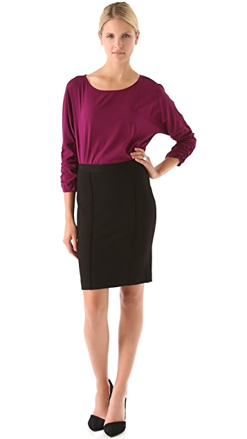 DKNY Raised Seam Pencil Skirt