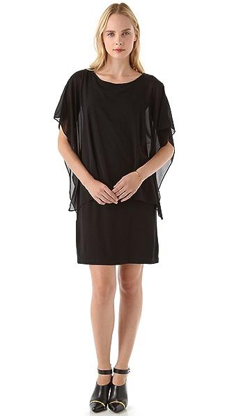 DKNY Sleeveless Dress with Overlay