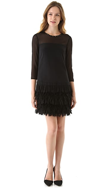 DKNY Tiered Lace Dress
