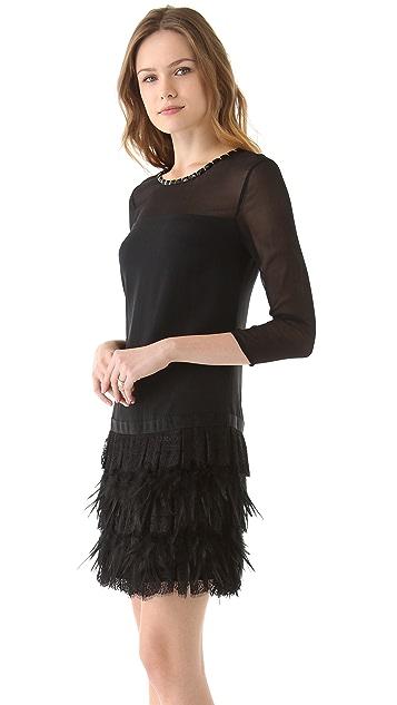 DKNY Tiered Lace Dress