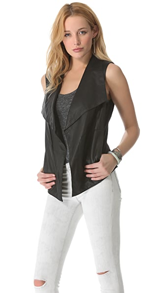 DKNY Pure DKNY Drape Leather Vest