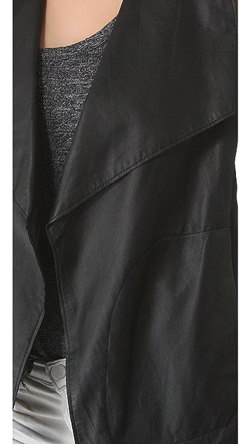 DKNY Pure DKNY Drape Leather Vest
