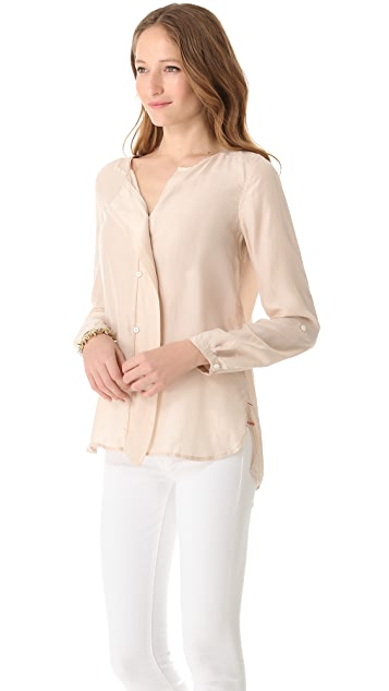 DKNY Pure DKNY Flutter Placket Blouse