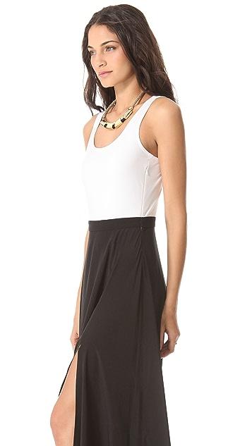 DKNY Maxi Dress with Bodysuit