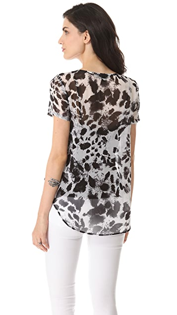 DKNY Scoop Neck Blouse