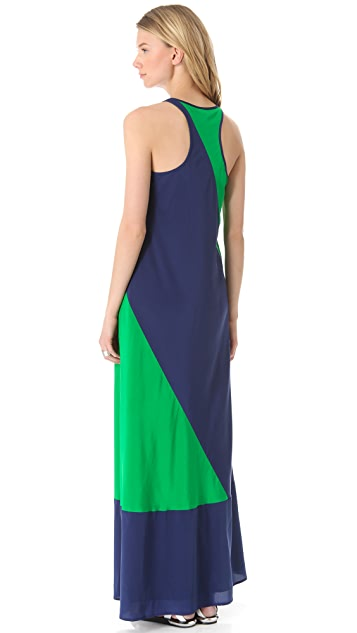DKNY Colorblock Maxi Dress