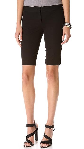 DKNY Flat Front City Shorts