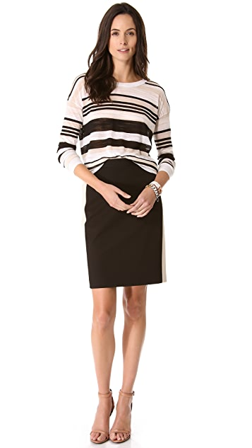 DKNY Pencil Skirt with Contrast Seaming