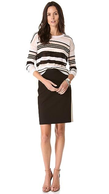 DKNY Stripe Crewneck Pullover