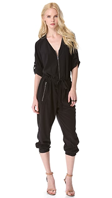 DKNY Pure DKNY V Neck Jumpsuit