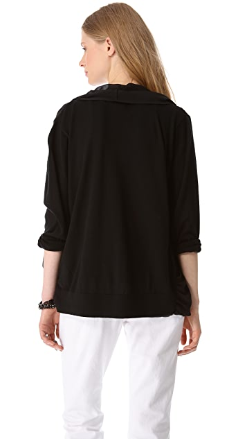 DKNY Pure DKNY Chiffon Front Cardigan