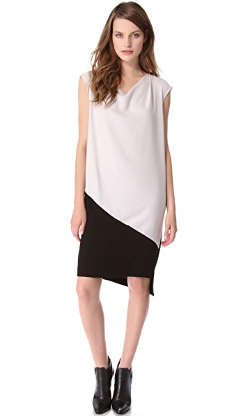 DKNY Colorblock Cap Sleeve Dress