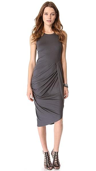 DKNY Sleeveless Side Gather Dress