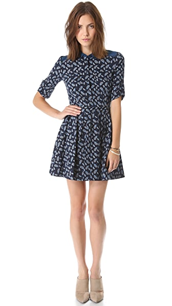DKNY Button Thru Shirtdress