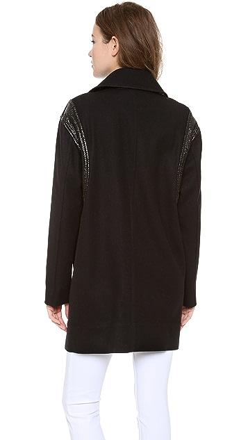 DKNY Asymmetrical Zip Front Jacket