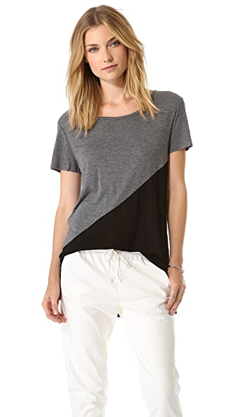 DKNY Colorblock Drop Shoulder Tee