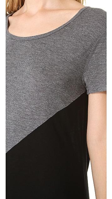 DKNY Colorblock Drop Shoulder Tee