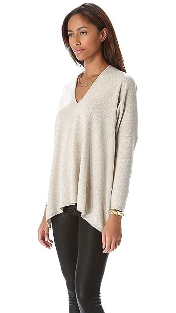 DKNY Drop Shoulder V Neck Pullover