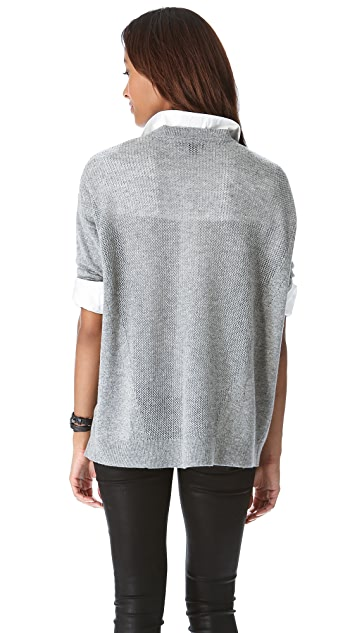 DKNY Drop Shoulder Crew Neck Pullover