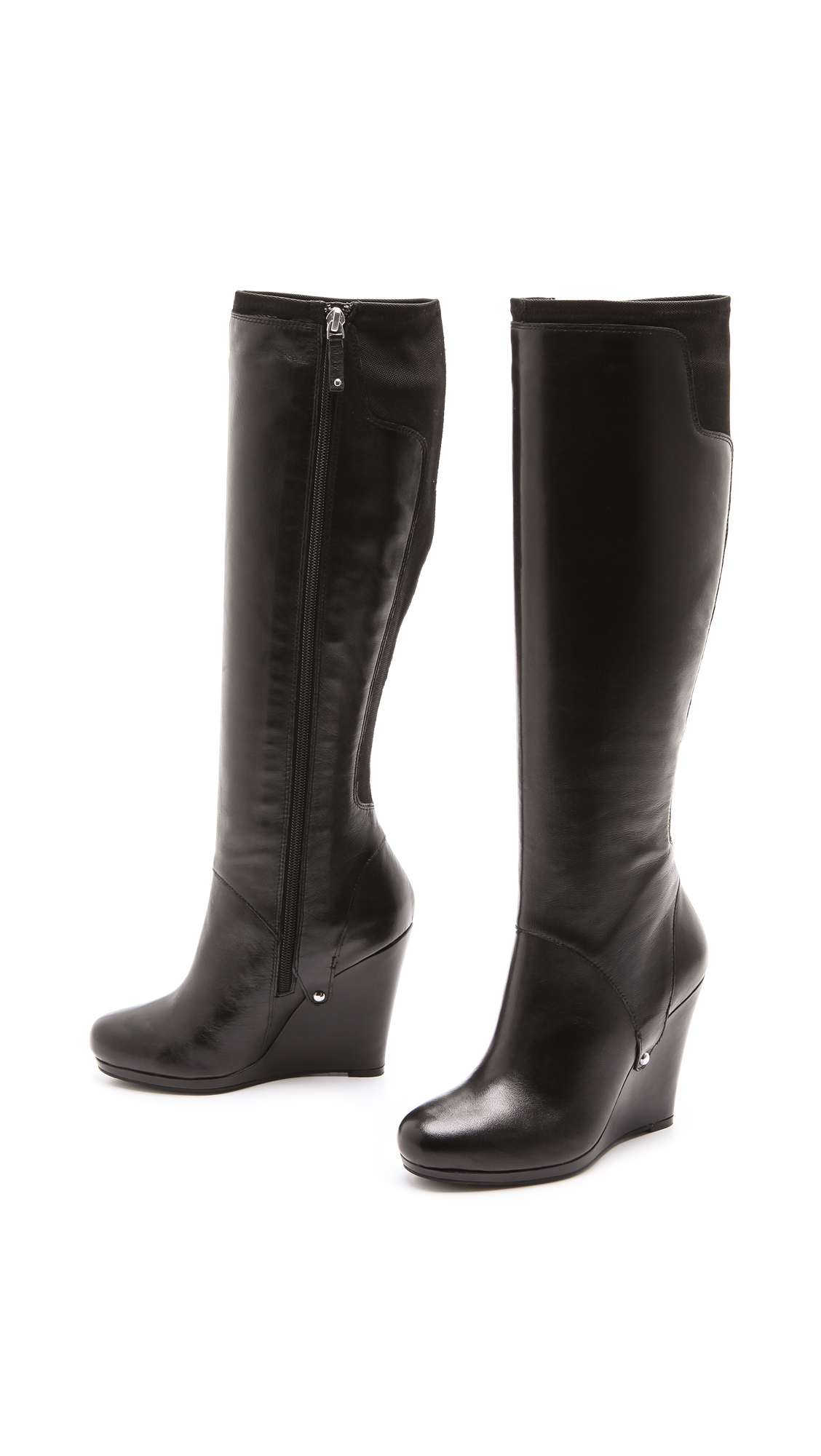 27bd7cfce52 DKNY Nadia Stretch Back Wedge Boots
