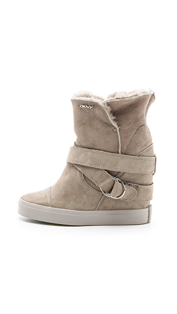 DKNY Great Shearling Sneaker Booties