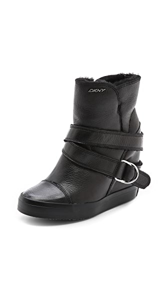 DKNY Great Shearling Lined Sneaker Booties