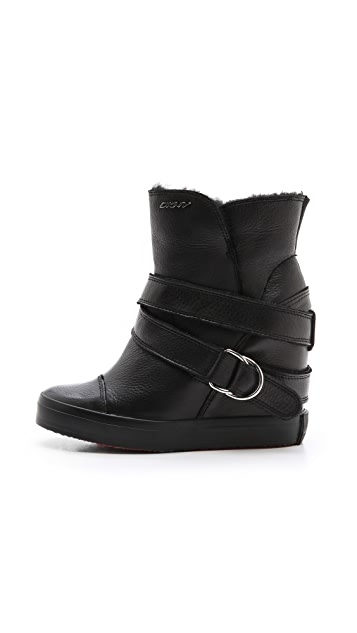 DKNY Great Shearling Lined Sneaker Booties