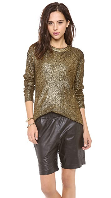 DKNY Foil Printed Long Sleeve Crew Neck Pullover