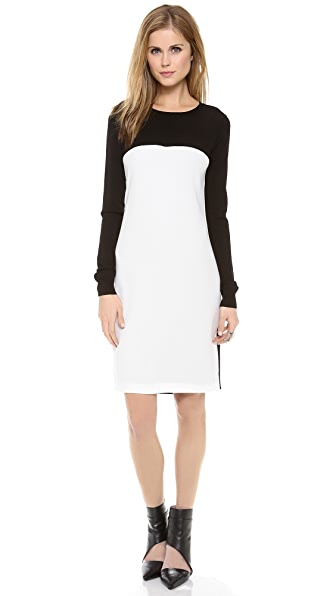 DKNY Colorblock Long Sleeve Dress