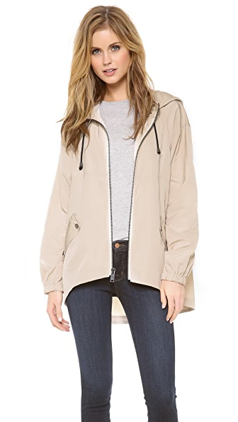 DKNY Zip Front Funnel Neck Anorak