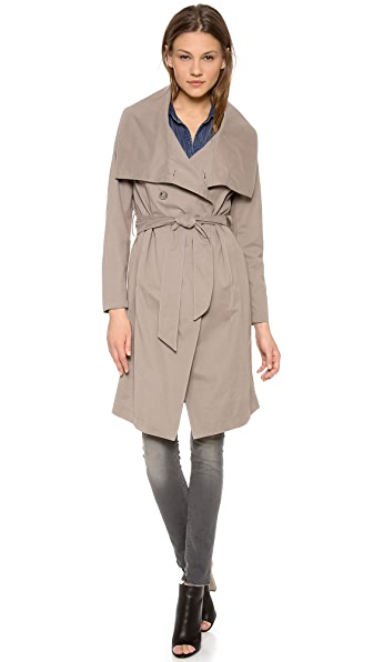 DKNY Pure DKNY Draped Trench Coat